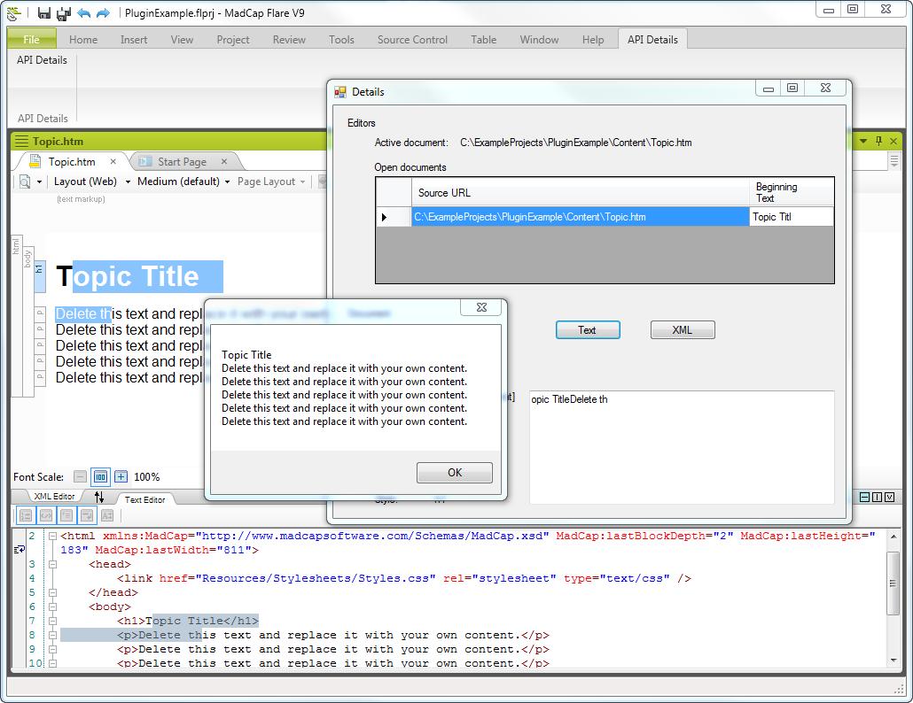 first-plugin-ribbon-details-screen-text-messagebox